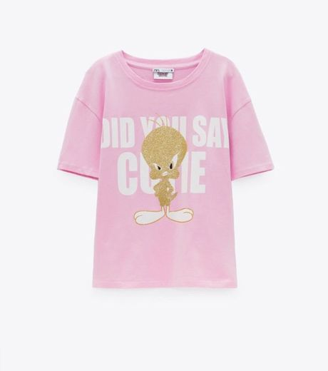 Camiseta piolín Zara mujer