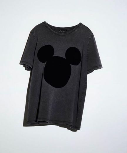 Camiseta Zara estilo desteñido de Mickey