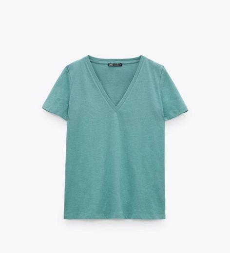 Camiseta V Zara