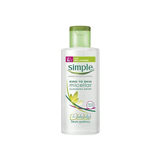 """Agua micelar desmaquillante""""Kind to Skin"""" de Simple"""