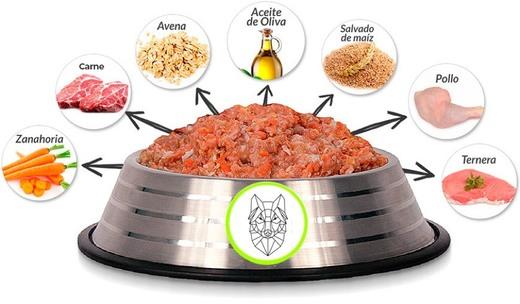 Dieta Barf Ternera para perros, baja en grasas y 100% natural