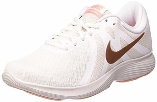 Nike Women's Revolution 4 Running Shoe, Zapatillas de Trail Mujer, Blanco