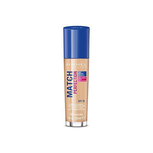 Rimmel London Match Perfection Foundation Base de Maquillaje Tono 102-123 gr