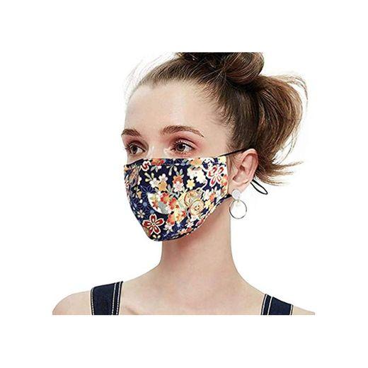 HEFYBA 𝐌𝐚𝐬𝐜𝐚𝐫𝐢𝐥𝐥𝐚𝐬 De Proteccion Adulto Reusable 𝐌𝐚𝐬𝐜𝐚𝐫𝐢𝐥𝐥𝐚 con 4 Piece 𝐏𝐌 2.5