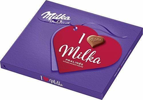 I Love Milka Bombones, madera de nogal nugat, 110g, 5unidades