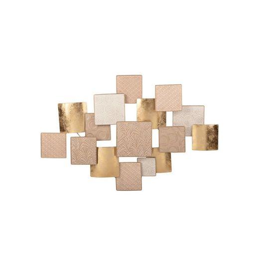 Carola - Decoração de parede em metal dourado