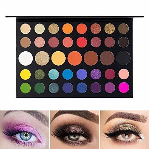 UCANBE Paleta de sombra de ojos Maquillaje Contorno metálico Sombra de ojos