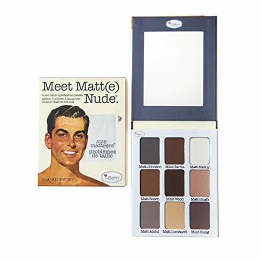 The Balm Nude Matte Eye Shadow Palette Meet Matt(e) Nude 9 Shades
