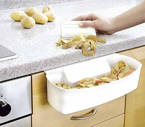 WENKO 7730100 Recipiente para cocina para recoger las basuras - con rascador