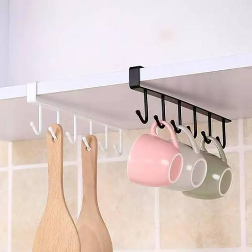 Armazenamento para prateleiras de cozinha