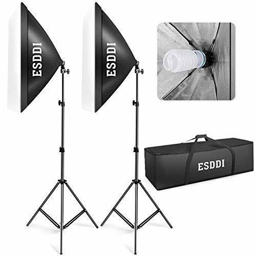 ESDDI Softbox Kit Iluminacion Fotografia con 2 Softbox 50x70cm