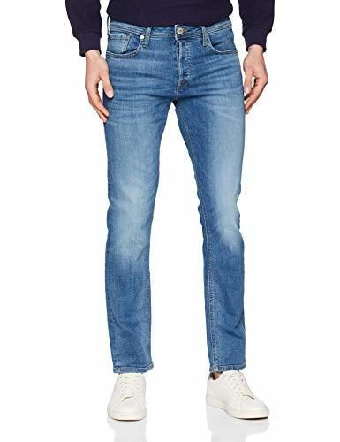 JACK & JONES Jjitim Jjoriginal Am 781 50sps Noos Vaqueros Slim, Azul