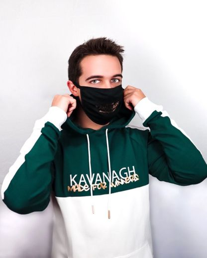 Gianni Kavanagh Men Dark Green Street Art Hoodie
