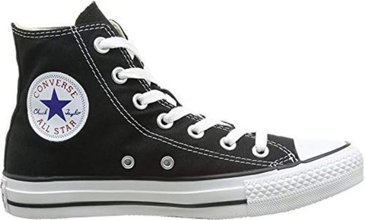 Converse Chuck Taylor All Star, Zapatillas altas Unisex adulto, Negro (Black), 38