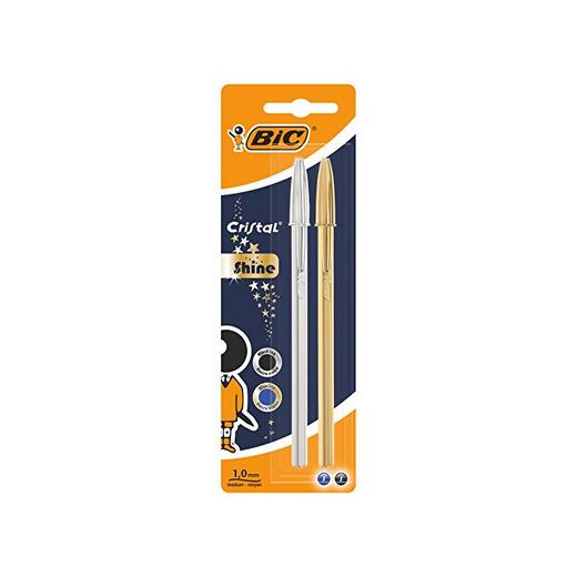 BIC Cristal Shine bolígrafos punta media