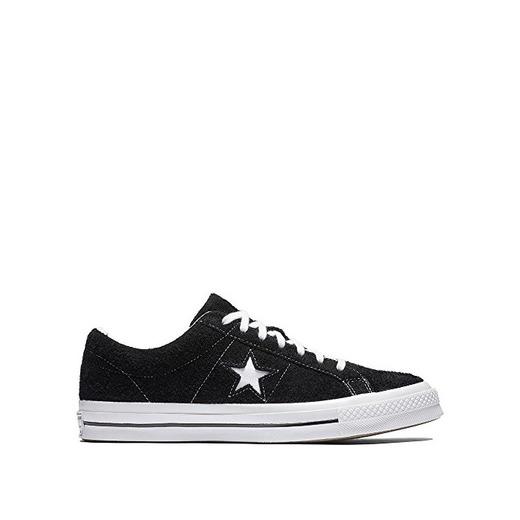 Converse One Star Ox, Zapatillas para Hombre, Negro