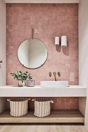 Casa de banho rosa