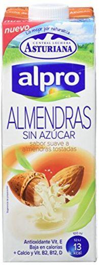 Alpro Central Lechera Asturiana Bebida de Almendra Sin Azúcar - Paquete de