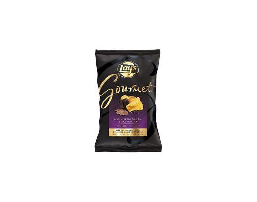 Batatas Fritas Lay's Gourmet Trufa Negra Sal Marinho vegan