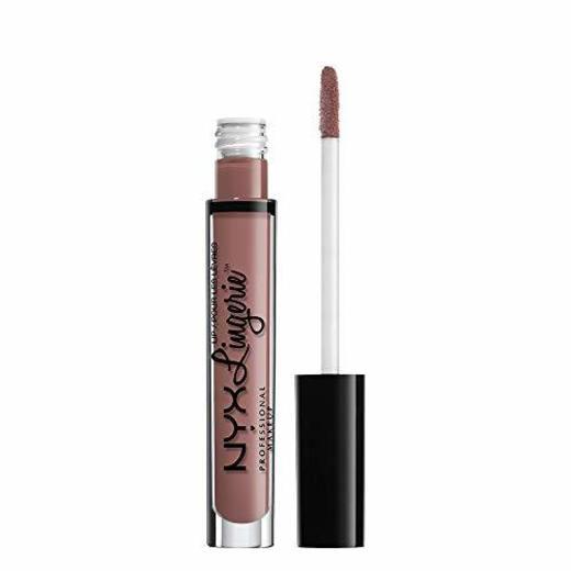 NYX Professional Makeup Pintalabios Lip Lingerie Liquid Lipstick, Acabado cremoso y mate,