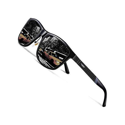 ATTCL Gafas De Sol Hombre Polarizadas Retro Estructura De metal Al-Mg 858-8