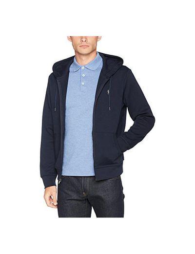 Polo Ralph Lauren Long Sleeve-Knit, Sudadera con Capucha para Hombre, Azul