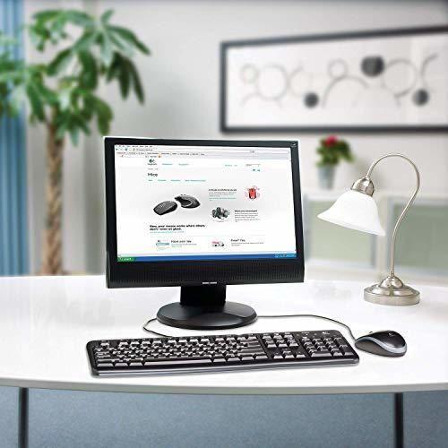 Logitech MK120 Combo Teclado y Ratón con Cable para Windows