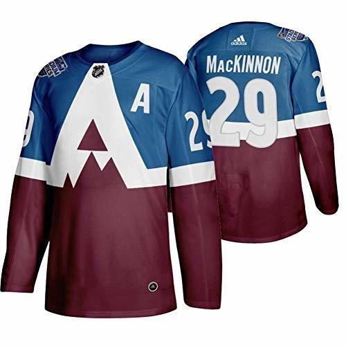 TOPSEE Camiseta de Hockey sobre Hielo NHL Colorado Avalanche MacKinnon #29 Home