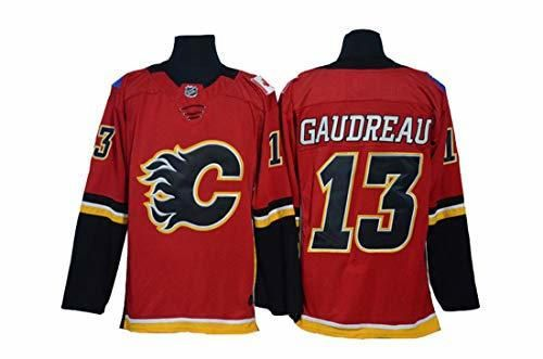 Gaudreau 13 Hockey Jersey Calgary Flames Hockey Letras Rojas Cosidas Números NHL