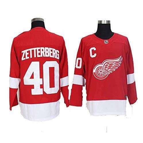 Yajun Henrik Zetterberg#40 Detroit Red Wings Camisetas Hockey Jersey sobre Hielo NHL