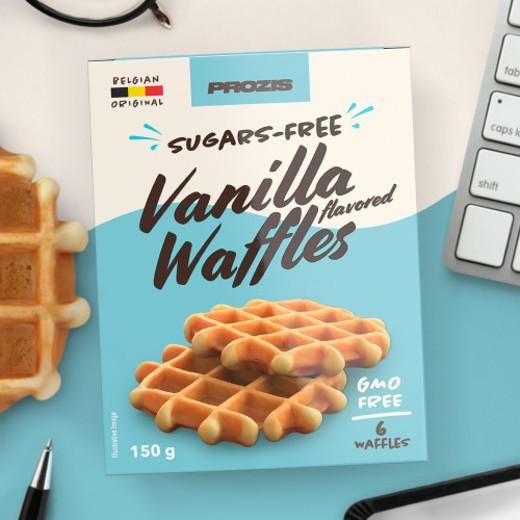 6 x Waffles com Sabor a Baunilha sem Açúcares 25 g