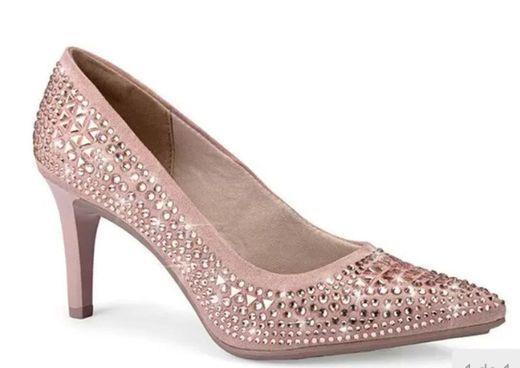 Sapato Scarpin Mississipi camurça com pedras