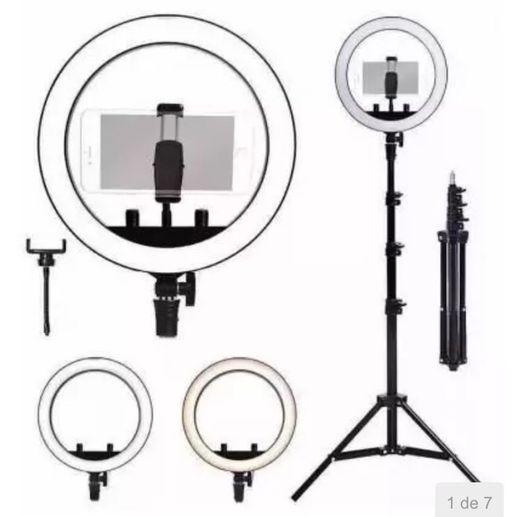 Kit completo Ring Ligth tripé Dimmer youtuber selfie Pro