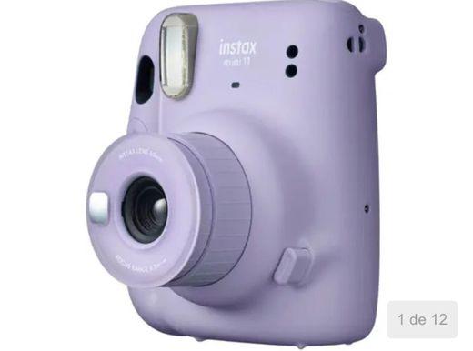 Instax Mini 11 lilás flash automático- com acessórios