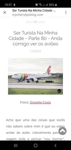 Miradouro de aviões em Lisboa