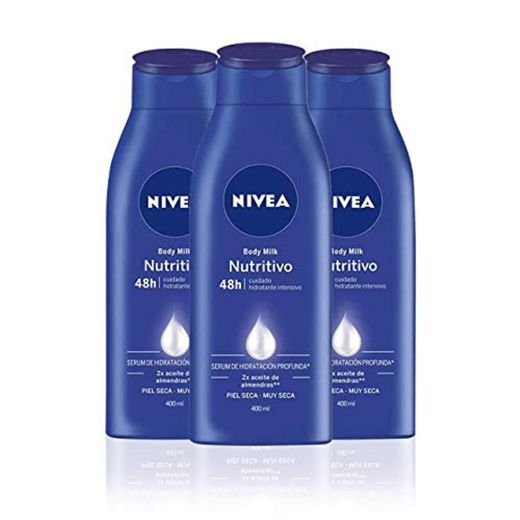 NIVEA Triplo Body Milk Nutritivo - Pack de 3 x 400 ml