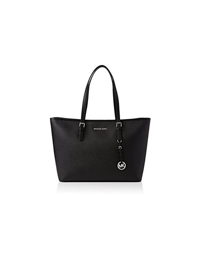 Michael Kors Jet Set Medium Travel, Bolso Totes para Mujer, Negro (Black)