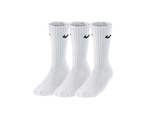 Nike 3Ppk Value Cotton Crew - Calcetines unisex