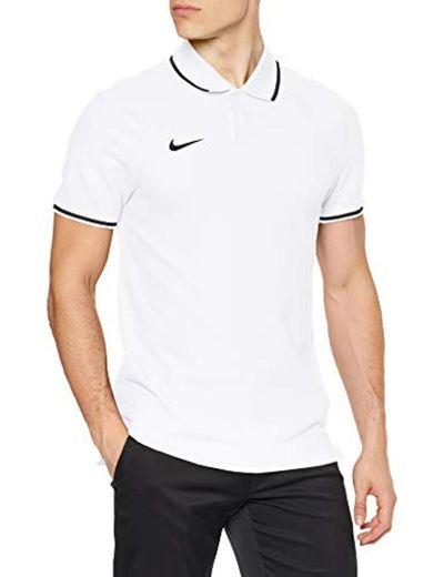 Nike M Polo TM Club19 SS Camiseta, Hombre, Blanco