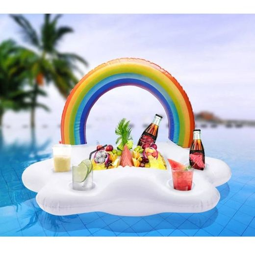 Suporte bebidas Familiar insuflável praia