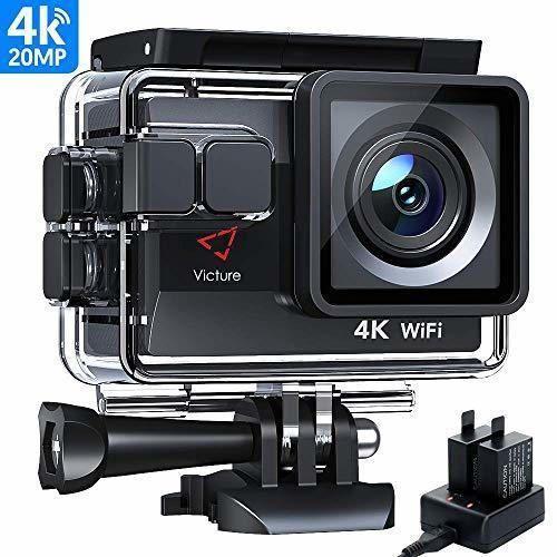 Victure AC800 Cámara Deportiva WiFi 4k Ultra HD 20MP Action Camera Acuatica