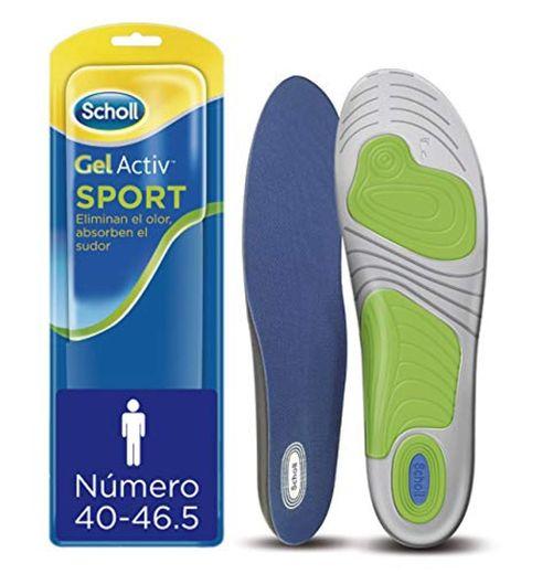 Scholl Plantillas Gel Activ Sport para hombre, para zapatillas deportivas, mayor amortiguación