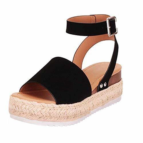 Sandalias Mujer Verano 2019 Zapatos de Plataforma Cuña Zapatos de Boca de
