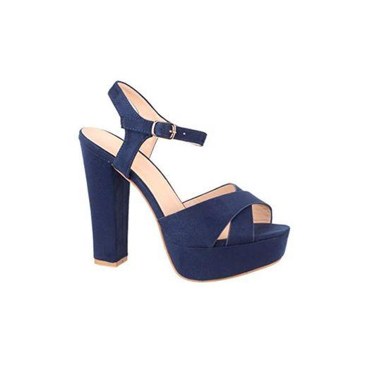 Elara Zapato de Tacón con Plataforma para Mujer Punta Abierta High Heels