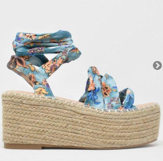Zapatos plataforma azul