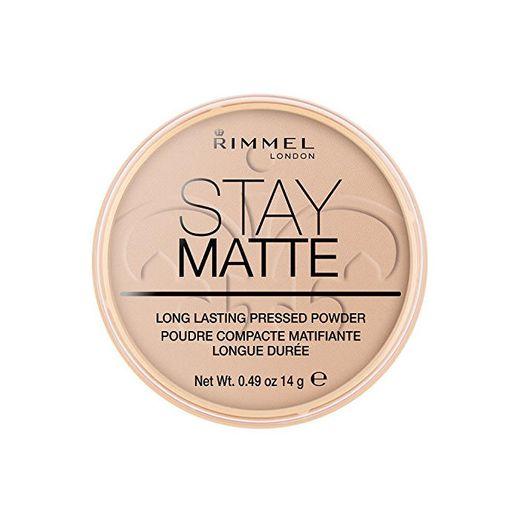 Rimmel London Stay Matte Tono 005 Polvo Compacto Matificante con Minerales Naturales