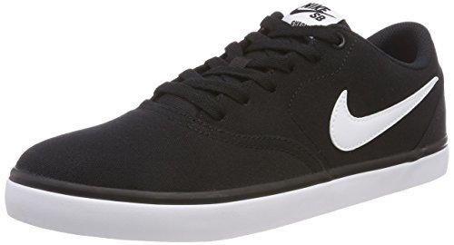 Nike SB Check Solar Cnvs, Zapatillas de Deporte para Hombre, Negro