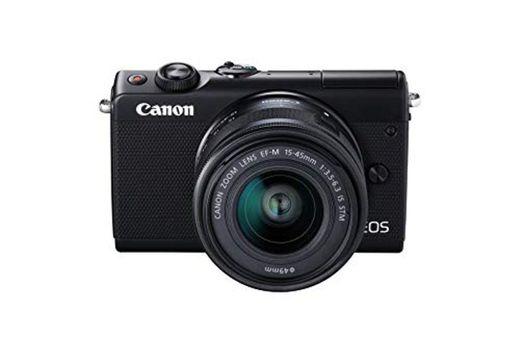 Canon EOS M100 BK M15-45 S - Cámara con sensor APS-C de