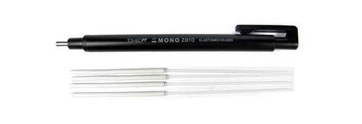 Tombow Mono Zero goma de borrar de precisión de punta redonda