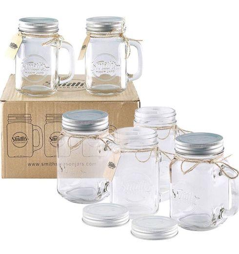 Mason Jar tazas con tapa de rosca 🍻